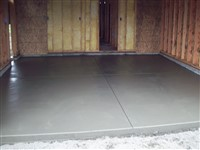 Concrete for garages and sheds